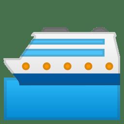 Passenger ship icon