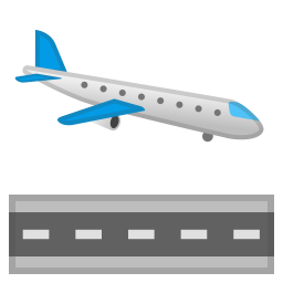 Airplane arrival icon