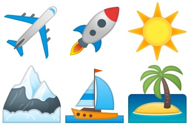 Noto Emoji Travel & Places Icons