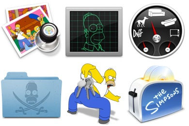 Simpsons 3 Icons