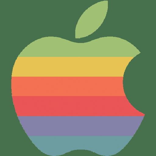 Rainbow-apple-logo icon