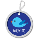 Twitter button blue icon