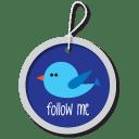 Twitter button blue icon