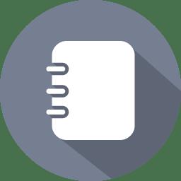 Addressbook grey icon