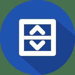 Arrow scroll icon