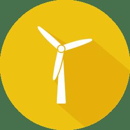 Wind turbine clean renewable energy icon