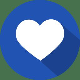 Heart favourite icon