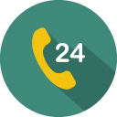 Call 24 hour icon