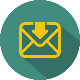 Arrow mail download icon