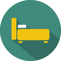 Bed Icon Colorful Long Shadow Iconset Graphicloads