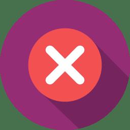Button 7 close icon