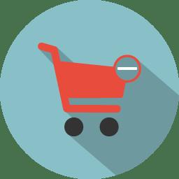 Cart remove icon