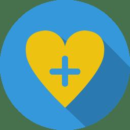 Heart love plus icon