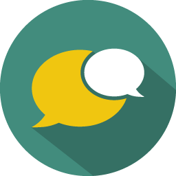Message clouds icon
