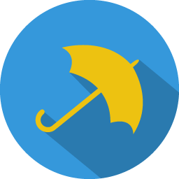 Umbrella Icon Colorful Long Shadow Iconset Graphicloads