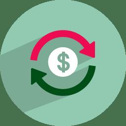 Dollar rotation icon