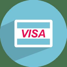 Visa Card Icon Flat Finance Iconset Graphicloads