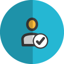 Check contact folded icon