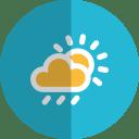 Cloudy rain folded icon