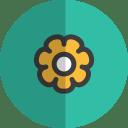 Flower folded icon