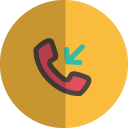 Incoming call folded icon