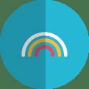 Rainbow folded icon