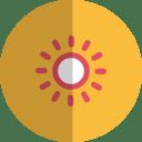 Sunny day folded icon