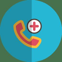 Add phone folded icon