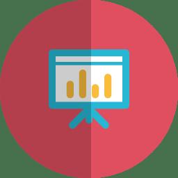 Chart folded icon