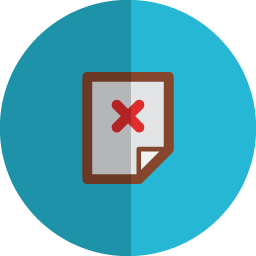Delete page folded icon