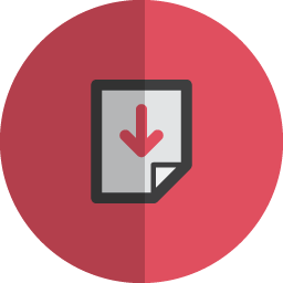 Down page folded icon