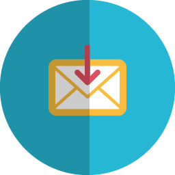 Download mail folded icon