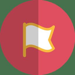 Flag folded icon