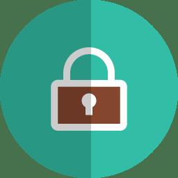 Lock folded icon