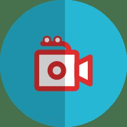 Movie folded icon
