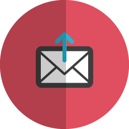 Upload mail folded icon