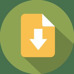 Document arrow download icon