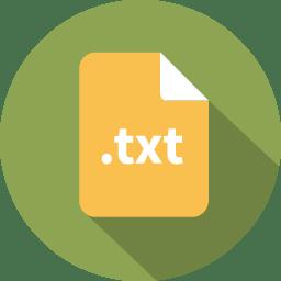 Document filetype text icon