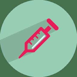 Syringe injection icon