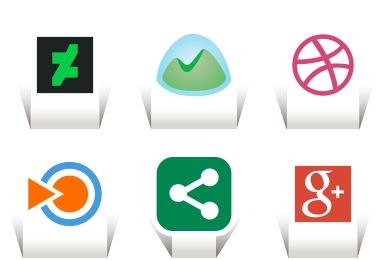 Papercut Social Icons