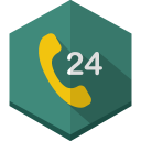 Call 24 hours icon