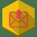 Upload-mail icon