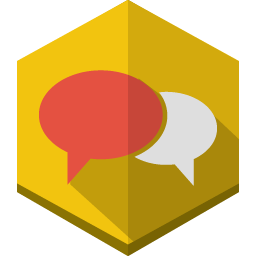 Message bubbles 3 icon