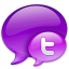 Small Twitter Logo in Pink icon