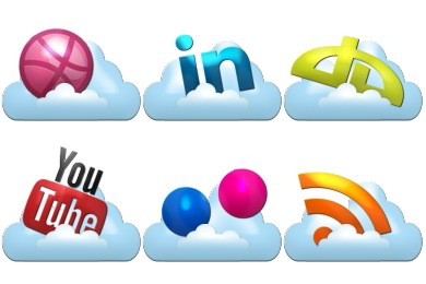 Cloud Social Icons