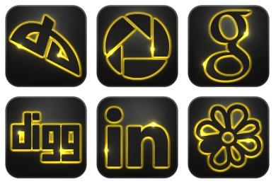Neon Glow Social Icons