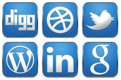 Simple Rounded Social Icons