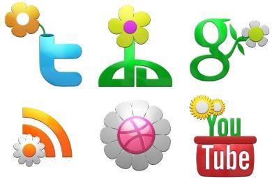 Spring Social Icons