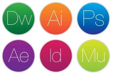 Adobe CC Style 2 Icons