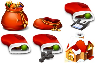 Red Christmas Icons
